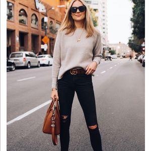 • Everlane • Scoop Neck Cashmere Cotton Sweater